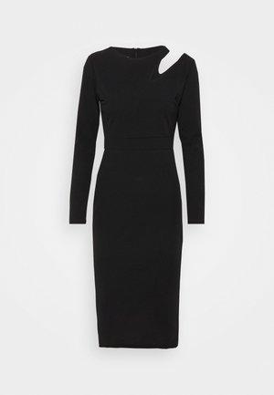 HATTIE CUT OUT MIDI DRESS - Jersey dress - black