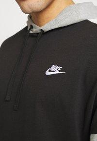 Nike Sportswear - Hoodie - black/dk grey heather/sail/(white) - 4