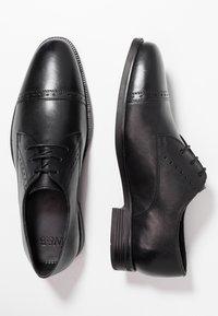 Jacamo - TOE CAP DERBY SHOE - Smart lace-ups - black - 1