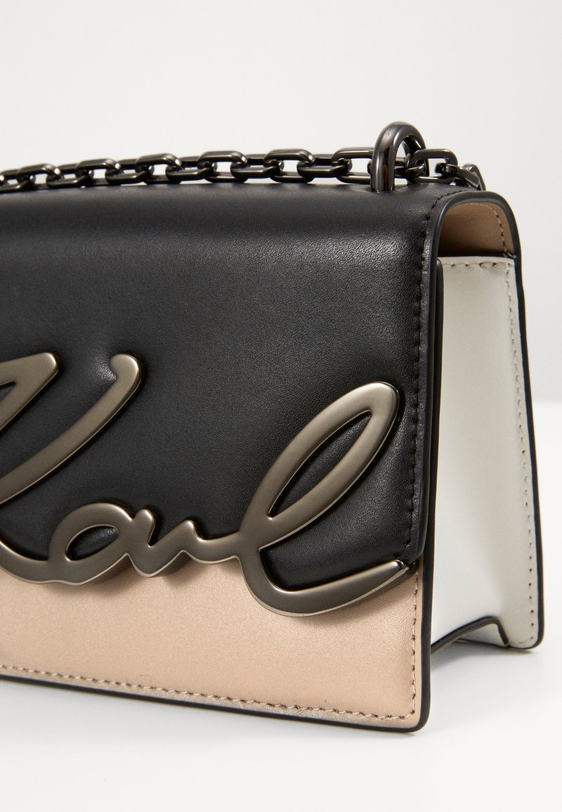 KARL LAGERFELD SIGNATURE SMALL SHOULDERBAG - Axelremsväska - multi