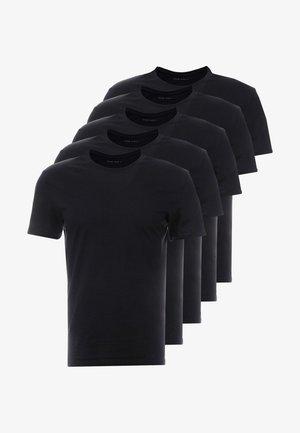 5 PACK - T-shirt - bas - black