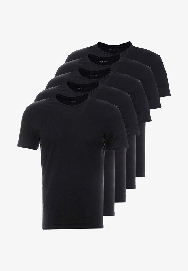 5 PACK - T-shirts - black