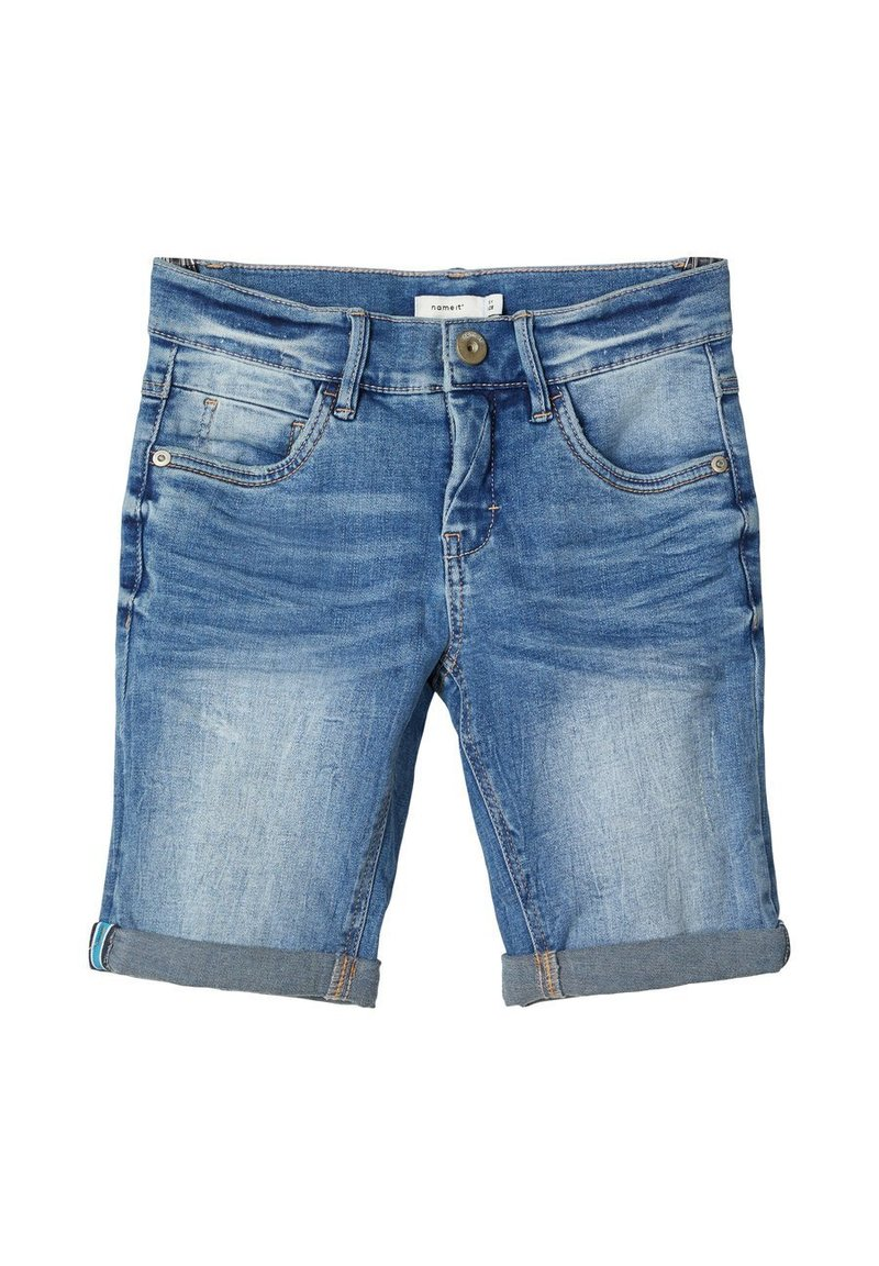 Name it - Jeansshort - medium blue denim