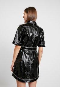 Monki - KARLA DRESS - Košilové šaty - black - 3