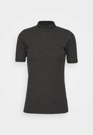 Basic T-shirt - dark black heather