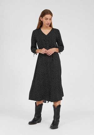 WEILAAN EASY DOTS - Maxi dress - black