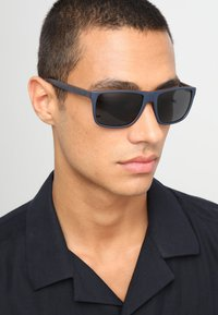 Emporio Armani - Sunglasses - top blue/brown rubber - 1