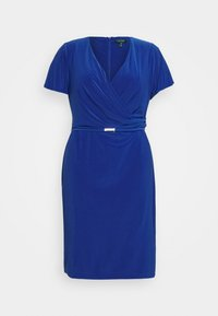 Lauren Ralph Lauren Woman - ALEXIE SHORT SLEEVE DAY DRESS - Shift dress - summer sapphire - 4