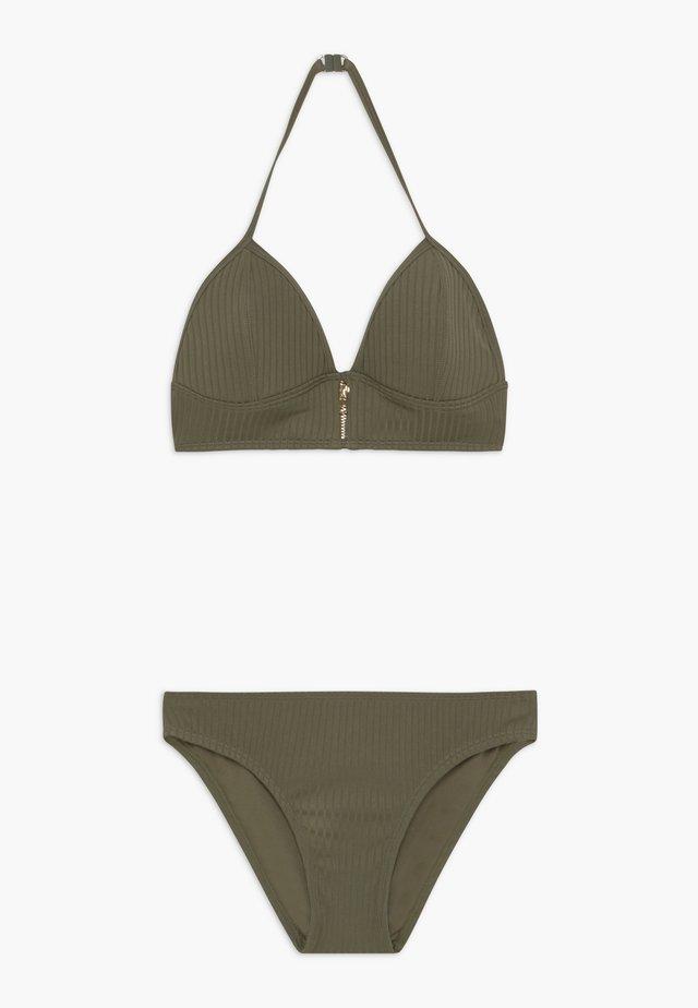 ZIP SET - Bikini - khaki