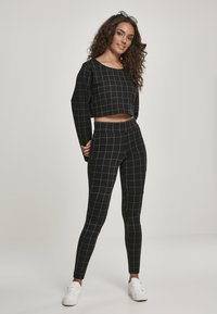 Urban Classics - Leggings - Trousers - black/white - 1