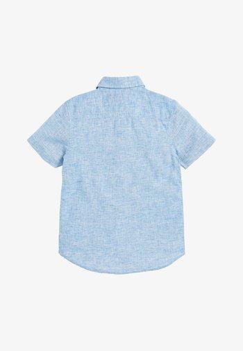 BLUE SHORT SLEEVE LINEN MIX SHIRT (3-16YRS) - Shirt - blue