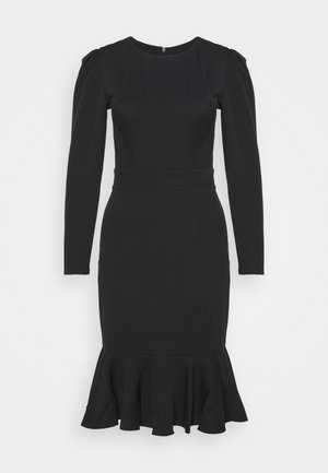 KAHVERENGI - Shift dress - black