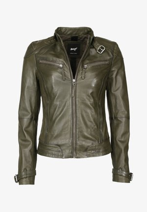 RYANA - Leather jacket - forest night