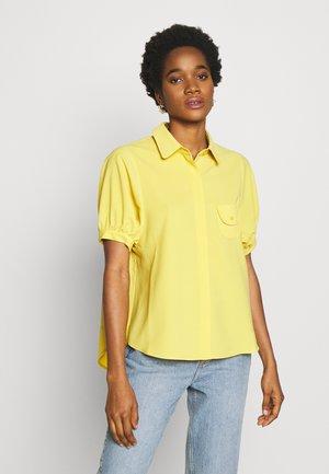 LADIES - Button-down blouse - yellow gold