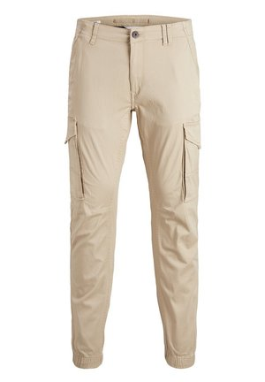 JACK & JONES JUNIOR CARGOHOSE JUNGS TAPERED FIT - Cargo trousers - white pepper