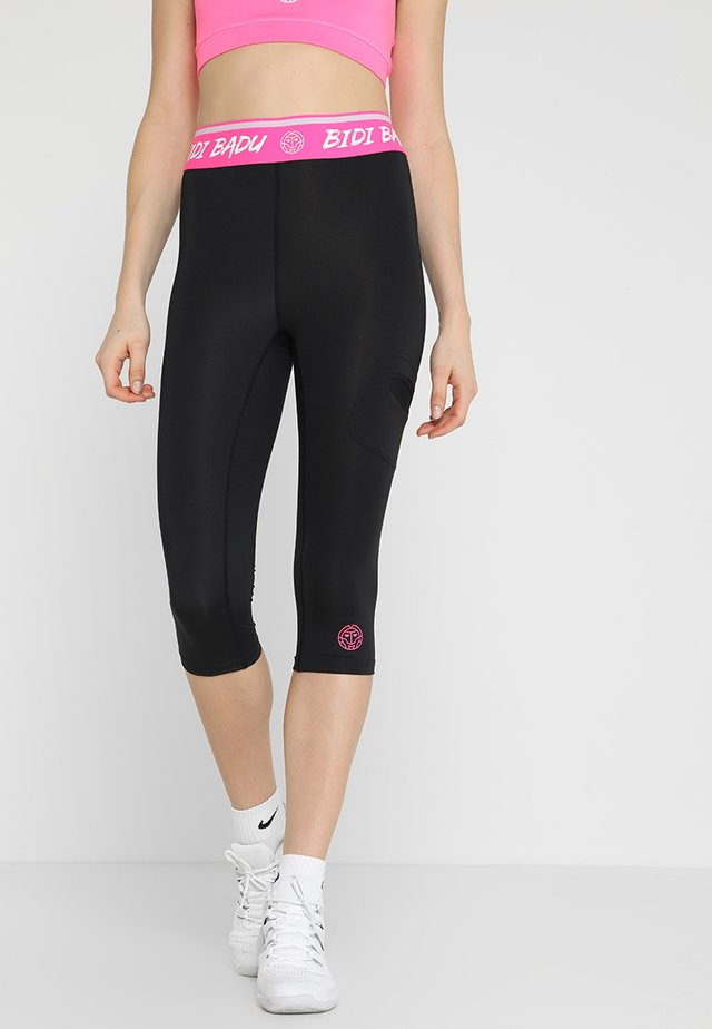 BRUNA TECH CAPRI - Urheilucaprit - black