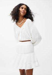 PULL&BEAR - Mini skirt - off-white - 4