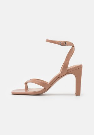 CAWIEL - Sandály na vysokém podpatku - dark beige