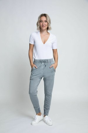 Trousers - steel grey