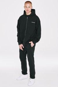 Pegador - LOGO WIDE PANTS UNISEX - Teplákové kalhoty - black - 0