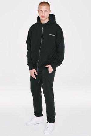 LOGO WIDE PANTS UNISEX - Pantalon de survêtement - black