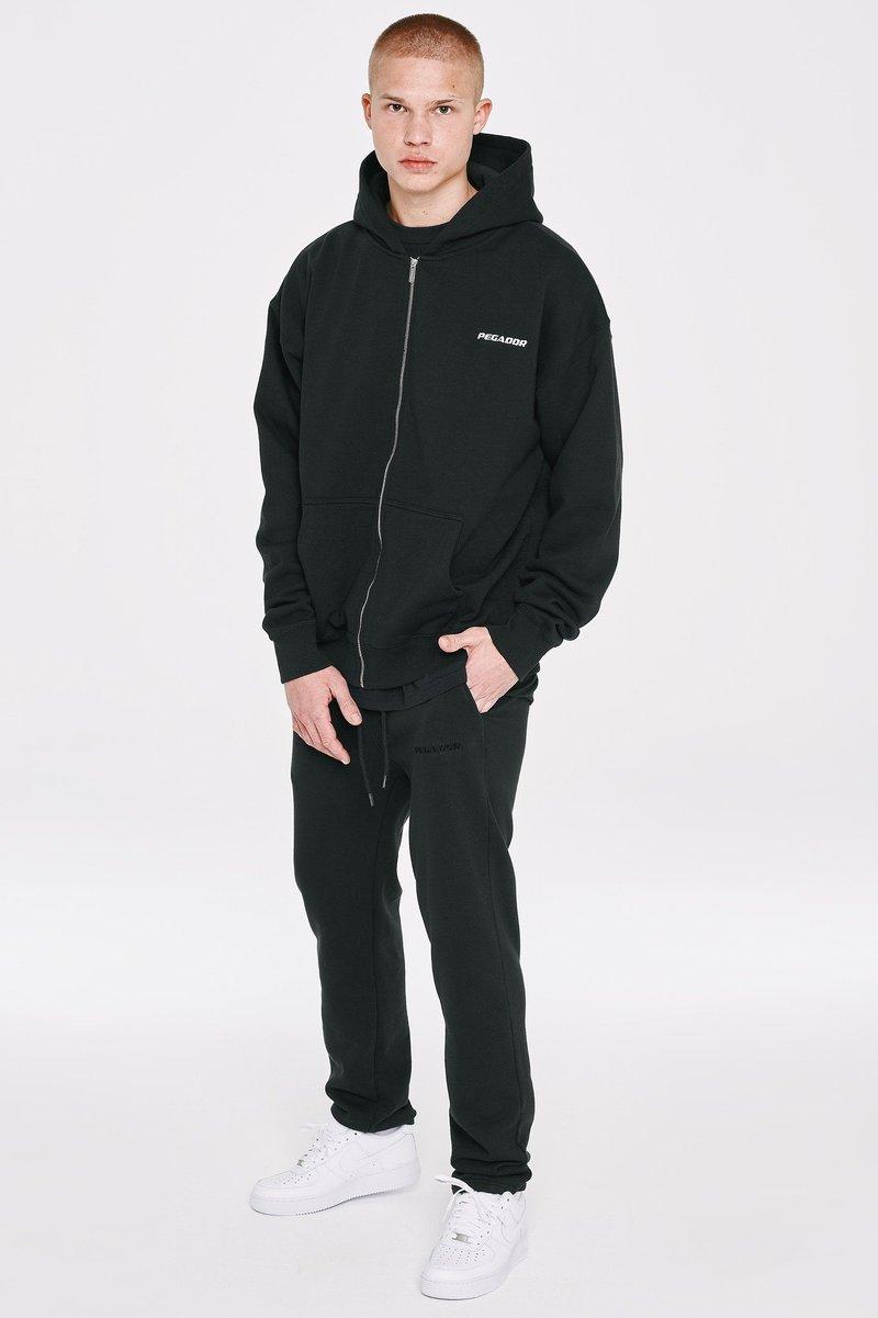 Pegador - LOGO WIDE PANTS UNISEX - Teplákové kalhoty - black