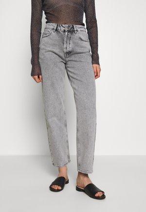 SLFKATE STRAIGHT BLAST - Straight leg jeans - grey denim