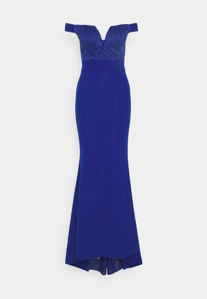 LOW PLUNGE NECK DRESS - Iltapuku - electric blue