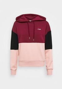 Fila - SANJA CROPPED HOODY - Hoodie - tawny port/black/coral cloud - 3
