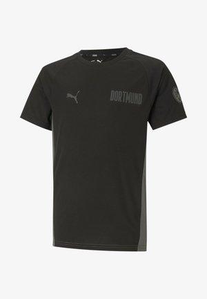 Print T-shirt - black-castlerock