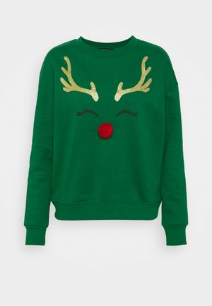 CHRISTMAS RUDOLPH SWEATSHIRT - Sweater - green