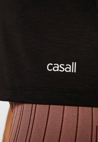 Casall - TEXTURE STRAP RACERBACK - Toppi - black - 5