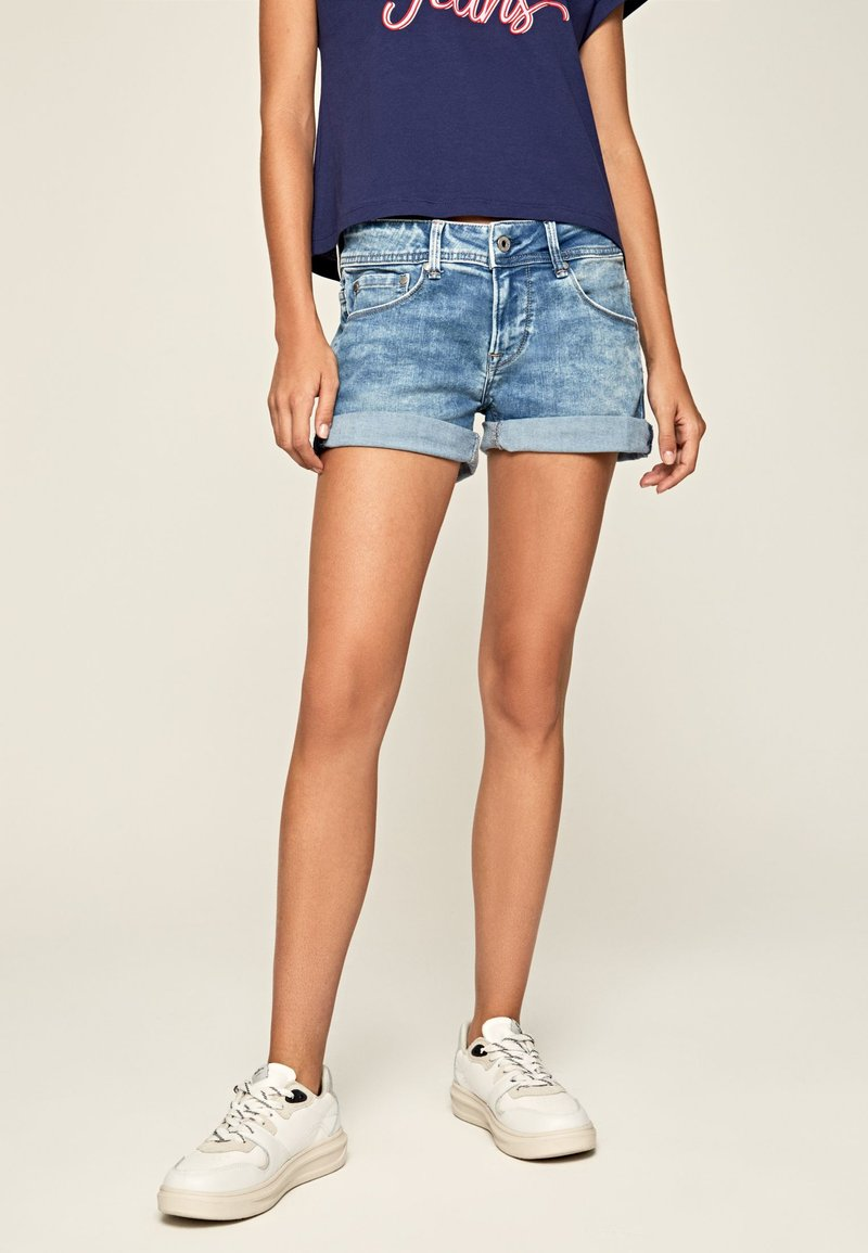 Pepe Jeans - SIOUXIE - Jeansshorts - denim