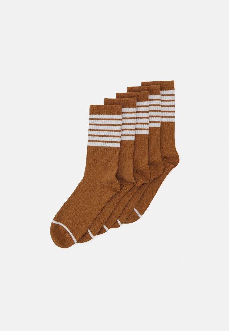 Monki - KIRSTEN SOCK 5 PACK - Strumpor - brown