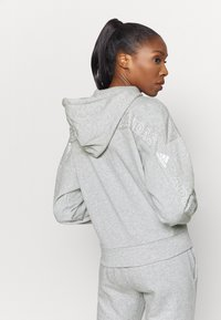 adidas Performance - Zip-up hoodie - mottled grey/white - 2