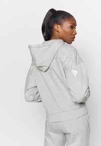 adidas Performance - Zip-up sweatshirt - mottled grey/white - 2