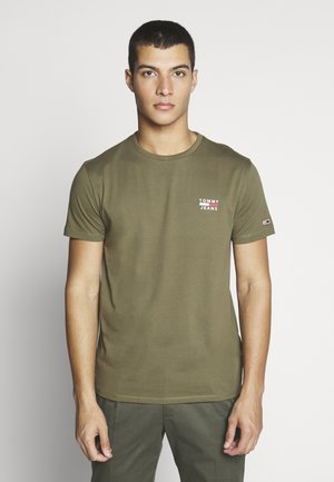 CHEST LOGO TEE - Print T-shirt - uniform olive