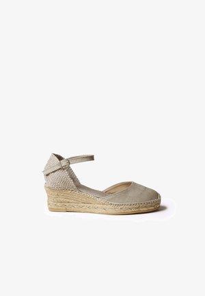 Wedge sandals - pedra