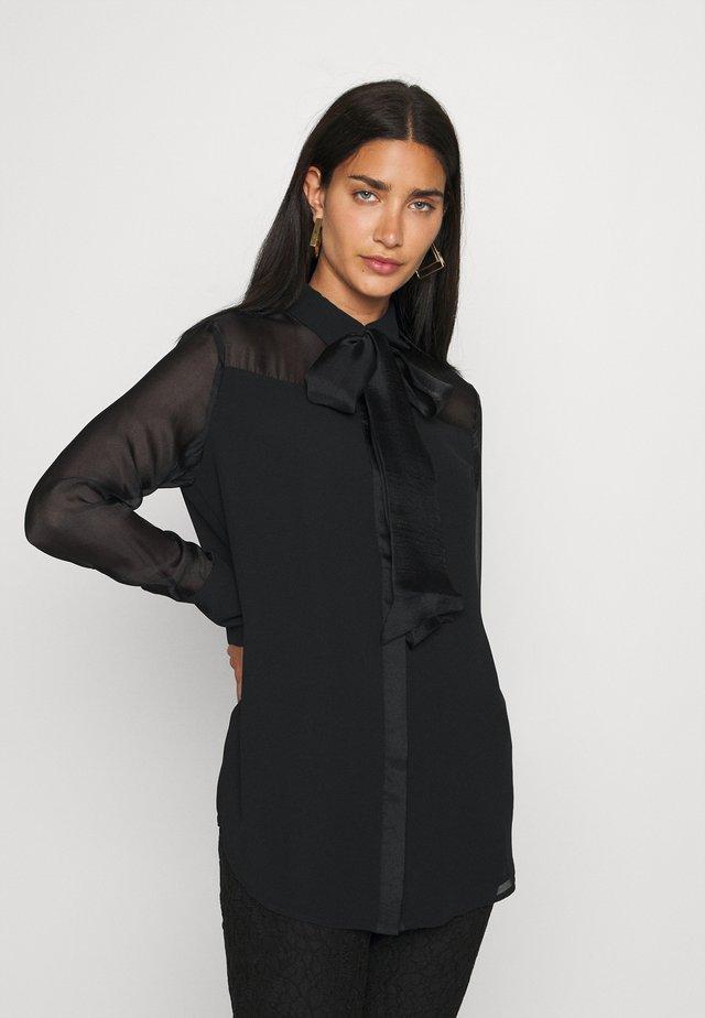 CAMICIA FIOCCO - Button-down blouse - nero