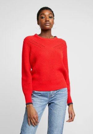CHUNKY - Jersey de punto - tomato red
