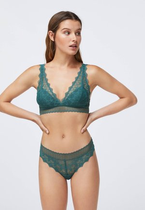 HIPSTER-STRING MIT GEOMETRISCHER SPITZE 30064697 - Tanga - turquoise