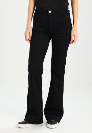 FLARE - Flared jeans - retro black