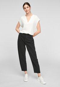 s.Oliver - KURZARM - Print T-shirt - off-white - 1