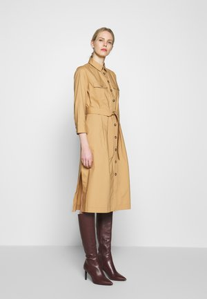 POPLIN DRESS WITH POCKETS - Day dress - light khaki