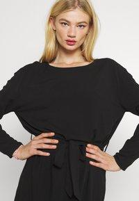 Vila - VISAY TIE BELT DRESS - Day dress - black - 3