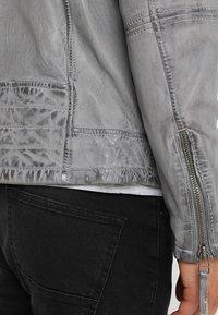 Freaky Nation - BEST BUDDY - Leather jacket - ash - 3