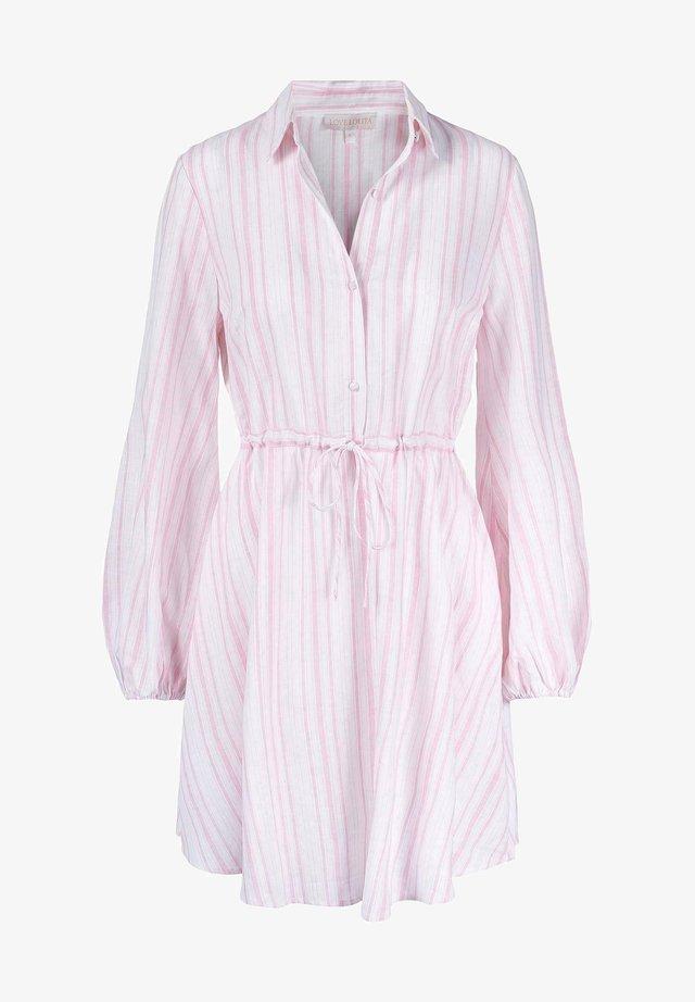 Skjortekjole - pink stripe