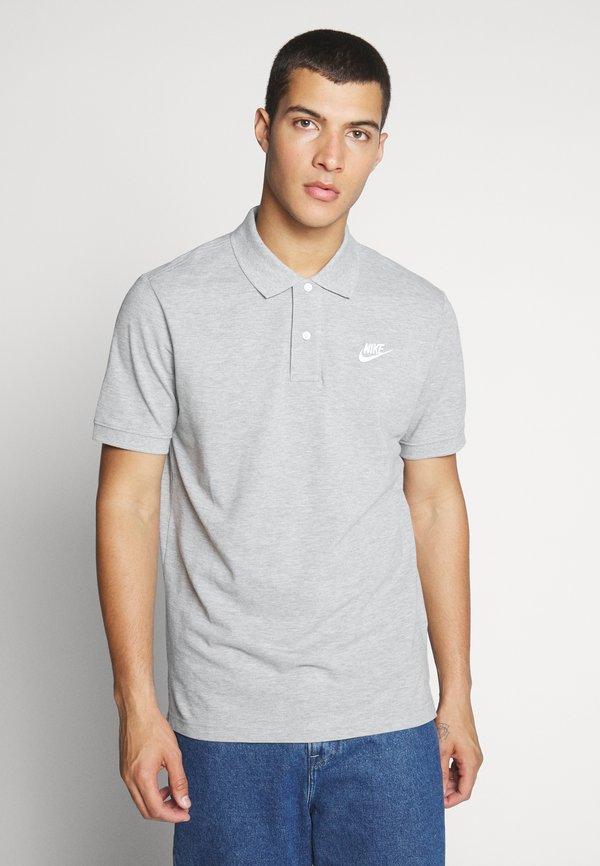 Nike Sportswear M NSW CE POLO MATCHUP PQ - Koszulka polo - grey heather/white/ciemnoszary melanż Odzież Męska ZHJD