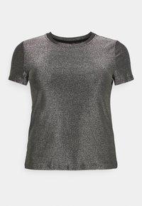 VMADALYN GLITTER - Jednoduché triko - black/silver