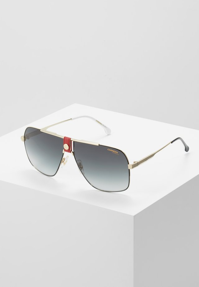 Sonnenbrille - gold-coloured/red